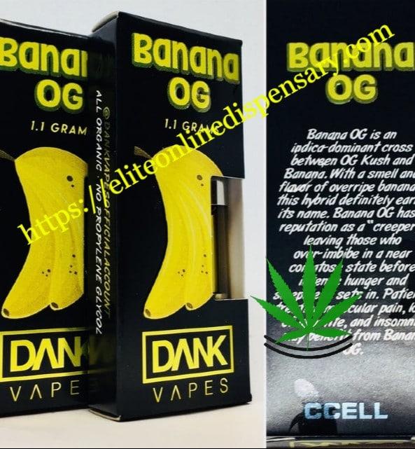 Banana OG Dank cartridge